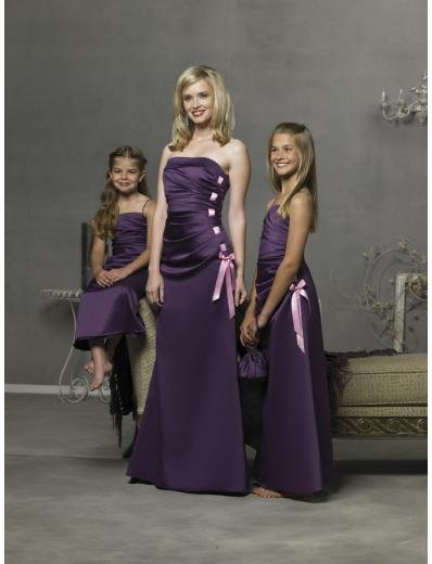 Column/Sheath Strapless Floor Length Satin Bridesmaid Dresses for brides new style(BD0280)