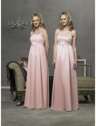 Empire spaghetti straps Length Satin Bridesmaid Dresses for brides new style(BD0284)