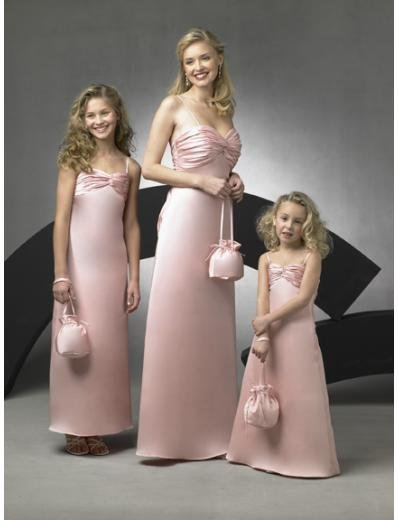 A-Line/Princess spaghetti straps Floor-Length Satin Bridesmaid dress for brides new Style(BD0262)