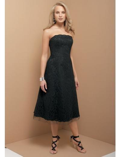 A-Line/Princess Strapless Knee-Length Satin Bridesmaid dress for brides new Style(BD0326)
