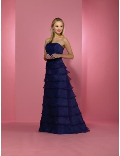 A-Line/Princess Strapless Floor length Satin Bridesmaid dress for brides new Style(BD0230)