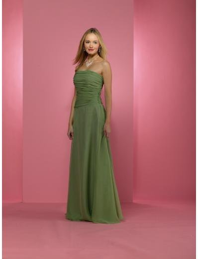 A-Line/Princess Strapless Floor length Satin Bridesmaid dress for brides new Style(BD0231)