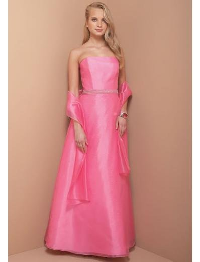 A-Line/Princess Strapless Knee-Length Satin Bridesmaid dress for brides new Style(BD0328)