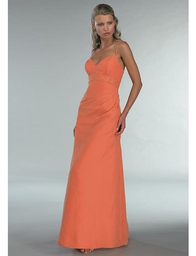A-Line/Princess Spagetti Straps Floor Length Satin Bridesmaid dress for brides new Style(BD0346)