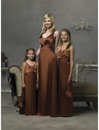 Column/Sheath V-neck Floor Length Satin Bridesmaid Dresses for brides new style(BD0293)