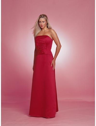 A-Line/Princess Strapless Floor length Satin Bridesmaid dress for brides new Style(BD0222)