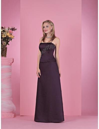 Column/Sheath Spaghetti Straps Floor Length Satin Bridesmaid Dresses for brides new style(BD0223)