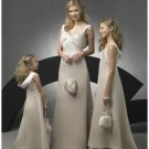 A-Line/Princess V-neck Floor-Length Satin Bridesmaid dress for brides new Style(BD0264)