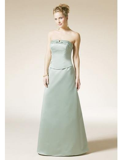A-Line/Princess Strapless Floor-Length Satin Bridesmaid dress for brides new Style(BD0323)