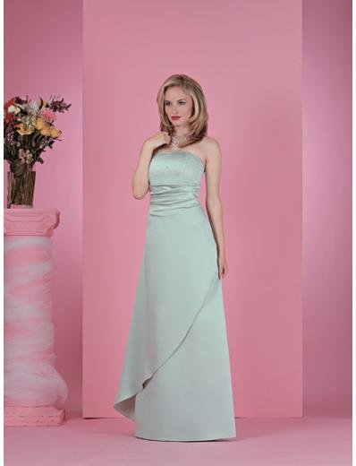 Column/Sheath Strapless Floor Length Satin Bridesmaid Dresses for brides new style(BD0225)