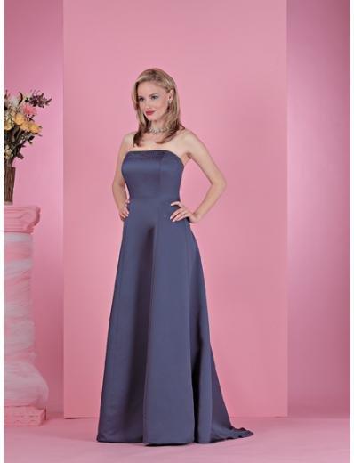 A-Line/Princess Strapless Floor length Satin Bridesmaid dress for brides new Style(BD0226)