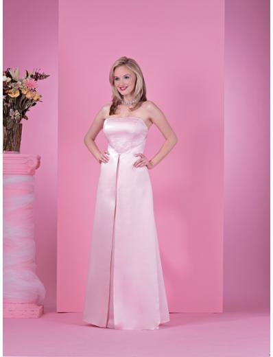A-Line/Princess Strapless Floor length Satin Bridesmaid dress for brides new Style(BD0227)
