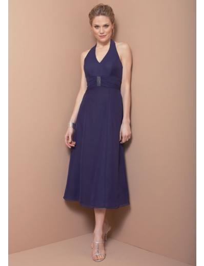 A-Line/Princess Halter Top Knee-Length Satin Bridesmaid dress for brides new Style(BD0325)