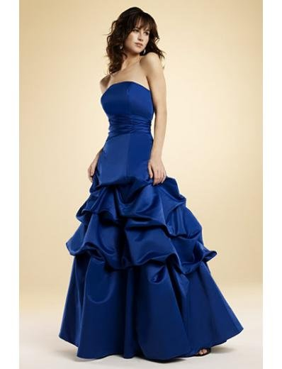 A-Line/Princess Strapless Floor-Length Satin Bridesmaid dress for brides new Style(BMD0025)