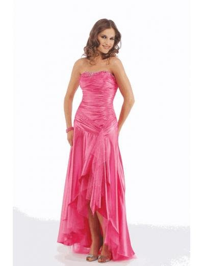A-Line/Princess Strapless Floor Length Satin Bridesmaid Dresses for brides new style(BMD0204)