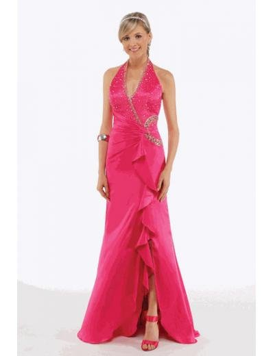 A-Line/Princess Halter Top Floor Length Satin Bridesmaid Dresses for brides new style(BMD0216)