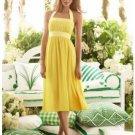 A-Line/Princess Halter Top Tea-length Satin Bridesmaid dress for brides new Style(BMD0042)