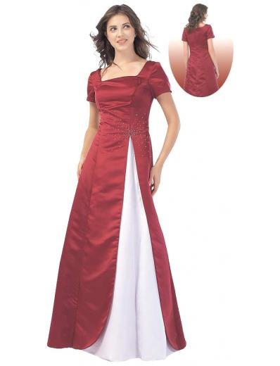 A-Line/Princess Square Floor Length Satin Bridesmaid dress for brides new Style(BMD0109)