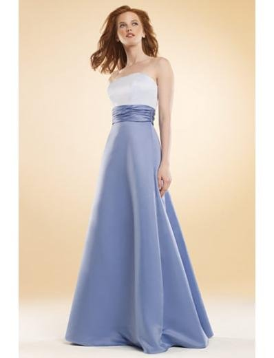 A-Line/Princess Strapless Floor-Length Satin Bridesmaid dress for brides new Style(BMD0033)