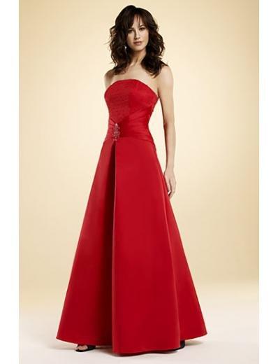A-Line/Princess Strapless Tea-length Satin Bridesmaid dress for brides new Style(BMD0026)