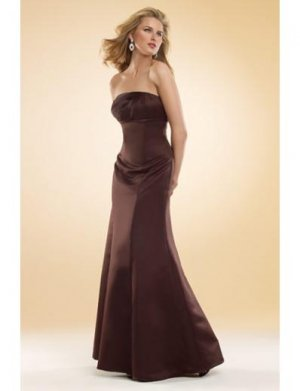 Mermaid Strapless Floor-Length Satin Bridesmaid dress for brides new Style(BMD0027)