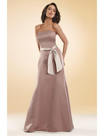 A-Line/Princess Strapless Floor-Length Satin Bridesmaid dress for brides new Style(BMD0028)