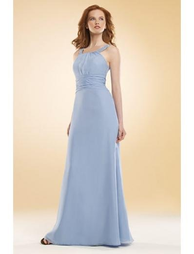A-Line/Princess Scoop Floor-Length Satin Bridesmaid dress for brides new Style(BMD0031)