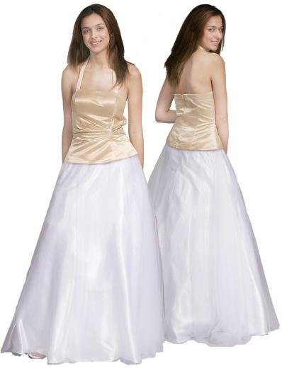 A-Line/Princess Halter Top Floor Length Satin Bridesmaid dress for brides new Style(BMD0104)
