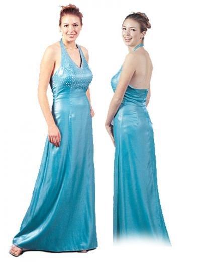 A-Line/Princess Halter Top Floor Length Satin Bridesmaid dress for brides new Style(BMD0105)