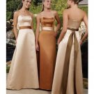 A-Line/Princess Strapless Floor Length Satin Bridesmaid Dresses for brides new style(BMD0202)