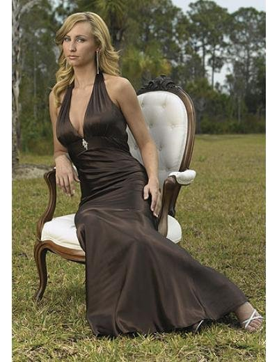 A-Line/Princess Halter Top Floor Length Satin Bridesmaid Dresses for brides new style(BMD0203)