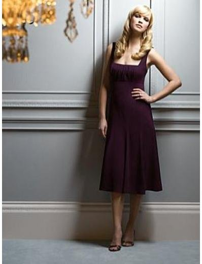 A-Line/Princess Square knee-length Satin Bridesmaid dress for brides new Style(BMD0054)