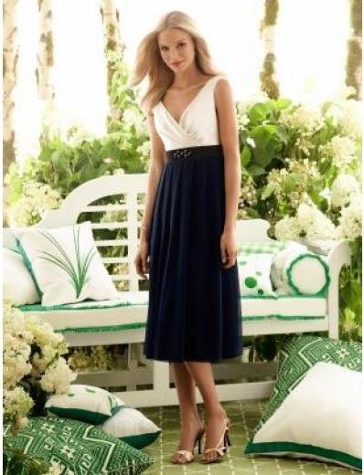 A-Line/Princess V-neck knee-length Satin Bridesmaid dress for brides new Style(BMD0047)