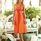 A-Line/Princess V-neck knee-length Satin Bridesmaid dress for brides new Style(BMD0035)