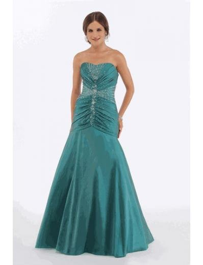 A-Line/Princess Strapless Floor Length Satin Bridesmaid Dresses for brides new style(BMD0221)