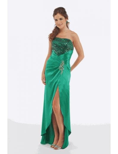 A-Line/Princess Strapless Floor-Length Satin Bridesmaid dress for brides new Style(BMD0206)
