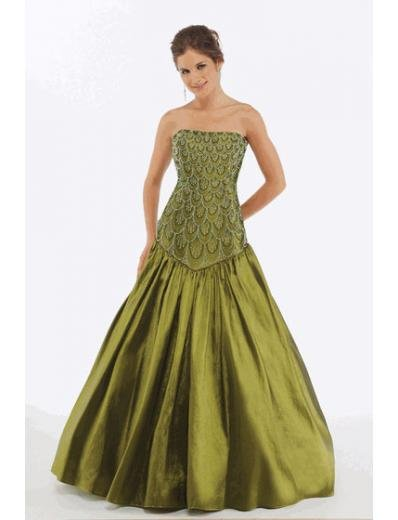 A-Line/Princess Strapless Floor Length Satin Bridesmaid Dresses for brides new style(BMD0223)