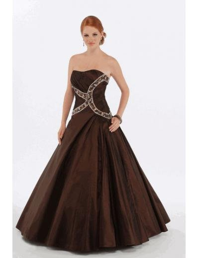 A-Line/Princess Strapless Floor Length Satin Bridesmaid Dresses for brides new style(BMD0224)