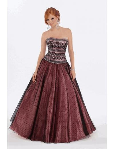 A-Line/Princess Strapless Floor Length Satin Bridesmaid Dresses for brides new style(BMD0225)