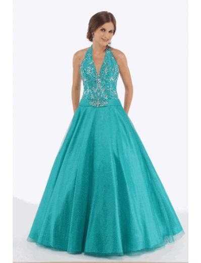 A-Line/Princess halter top Floor Length Satin Bridesmaid dress for brides new Style(BMD0229)