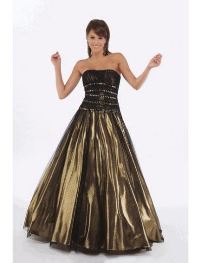 A-Line/Princess Strapless Floor Length Satin Bridesmaid Dresses for brides new style(BMD0226)