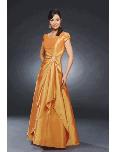 A-Line/Princess Scoop Floor Length Satin Bridesmaid Dresses for brides new style(BMD0238)