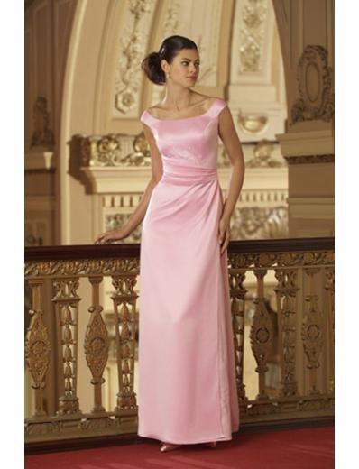 Column/Sheath Bateau Floor-Length Satin Bridesmaid dress for brides new Style(BMD0010)