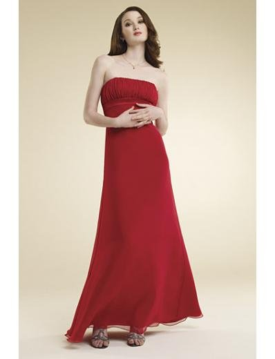A-Line/Princess Strapless Floor-Length Satin Bridesmaid dress for brides new Style(BMD0011)