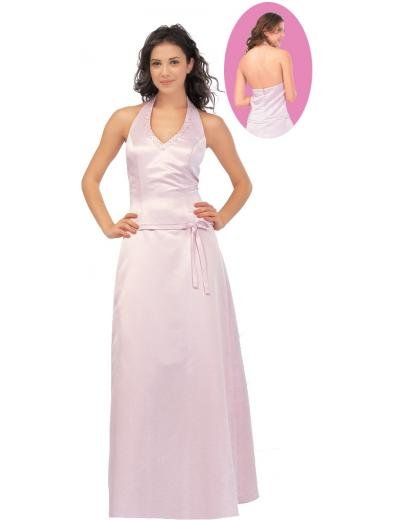 A-Line/Princess Halter Top Floor Length Satin Bridesmaid Dresses for brides new style(BMD0124)