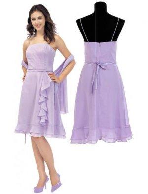 A-Line/Princess Spagetti Straps Tea-Length Chiffon Bridesmaid Dresses for brides new style(BMD0116)