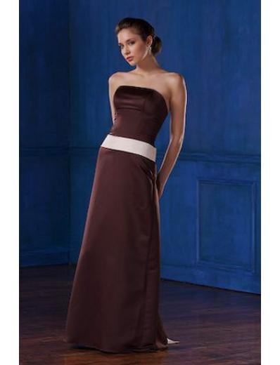 A-Line/Princess Strapless Floor-Length Satin Bridesmaid dress for brides new Style(BMD0003)