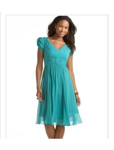 Column/Sheath V-neck Tea-length Taffeta Bridesmaid Dresses for brides new style(BMD0137)