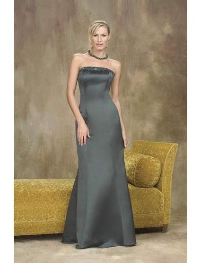 A-Line/Princess Strapless Floor-Length Satin Bridesmaid dress for brides new Style(BMD0004)