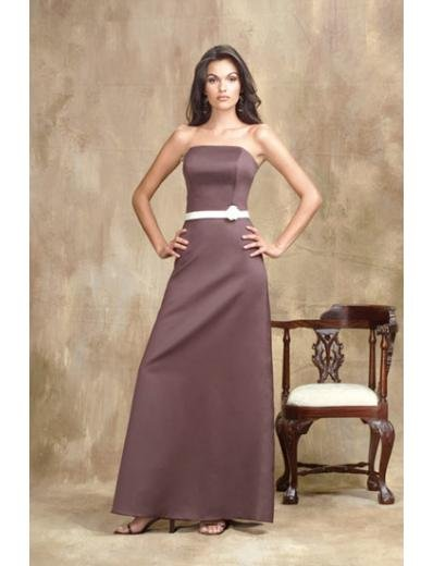 A-Line/Princess Strapless Floor-Length Satin Bridesmaid dress for brides new Style(BMD0005)